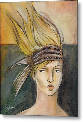 Tribal Metal Print by Jacque Hudson