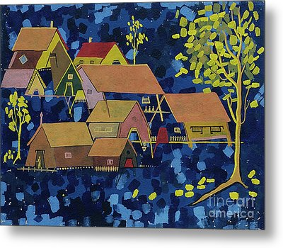 Tribal Village Metal Print by Vilas Malankar