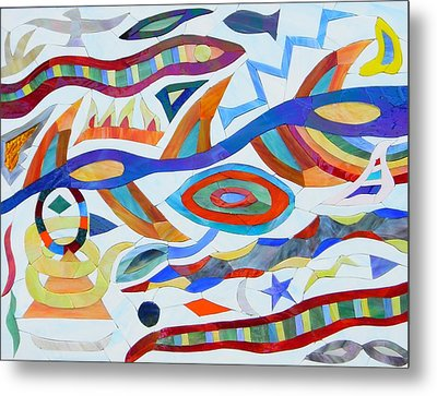 Tribal Visions Metal Print by Charles McDonell