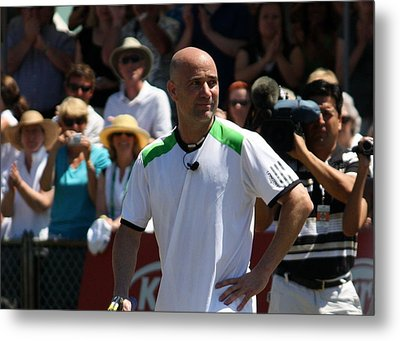 Tribute To Agassi Metal Print by Anne Babineau