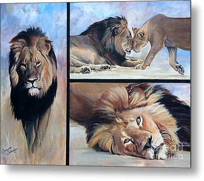 Tribute To Cecil The African Lion Metal Print by Suzanne Schaefer