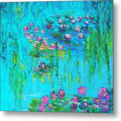 Metal Print featuring the painting Tribute To Monet by Holly Martinson