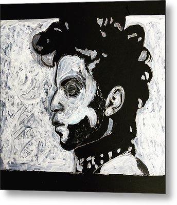 Tribute To Prince Metal Print