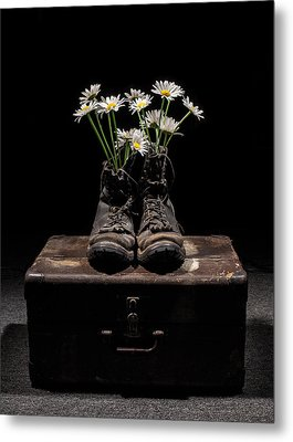 Metal Print featuring the photograph Tribute To The Fallen by Aaron Aldrich