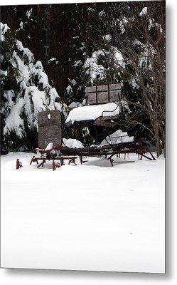 Metal Print featuring the photograph Tricia's Sleigh by Joel Deutsch