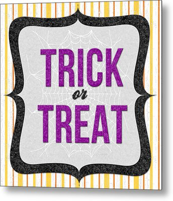 Trick Or Treat- Art By Linda Woods Metal Print