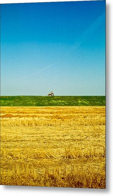 Tricolor With Tractor Metal Print