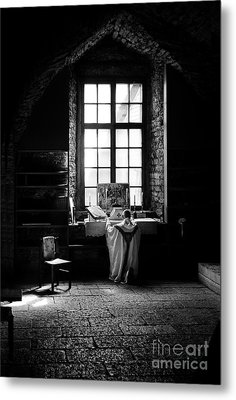 Tridentine Mass In An Ancient Chapel In The Old Dominican Monastery In Tallinn Metal Print