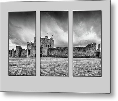 Trim Castle Triptych  Metal Print by Martina Fagan
