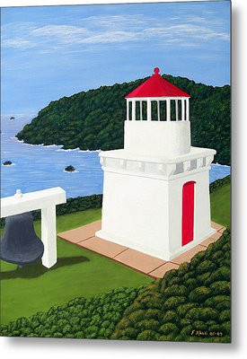 Trinidad Head Lighthouse Metal Print by Frederic Kohli