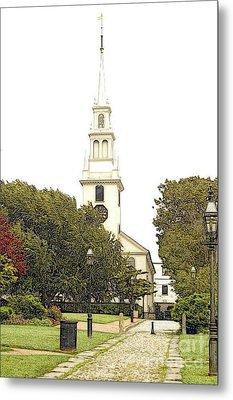 Trinity Church In Newport Ri Metal Print by Diane E Berry