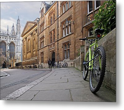 Metal Print featuring the photograph Trinity Lane Clare College Cambridge Great Hall by Gill Billington