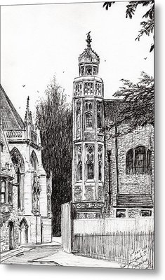 Trinity Street Cambridge Metal Print by Vincent Alexander Booth