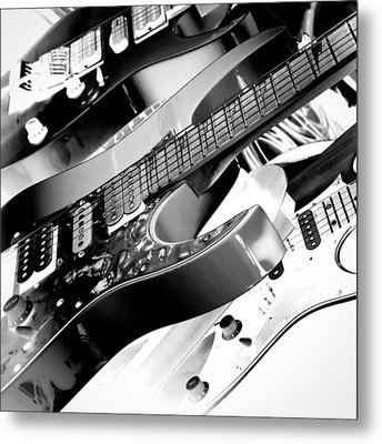 Trio Of Guitars Metal Print