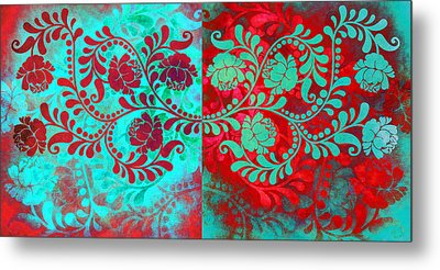 Metal Print featuring the digital art Trip The Night Fantastic Together by Angelina Vick