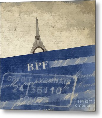 Trip To Paris Square Pillow Size Metal Print by Edward Fielding