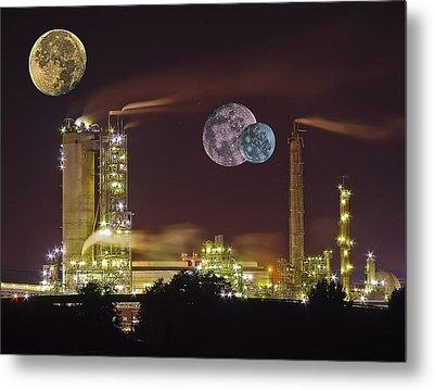 Triple Moon Metal Print by Michael Whitaker