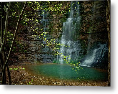 Tripple Falls Metal Print by Iris Greenwell