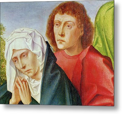 Triptych Of The Crucifixion Metal Print by Gerard David