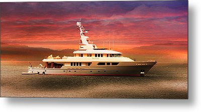 Metal Print featuring the photograph Triton Yacht by Aaron Berg