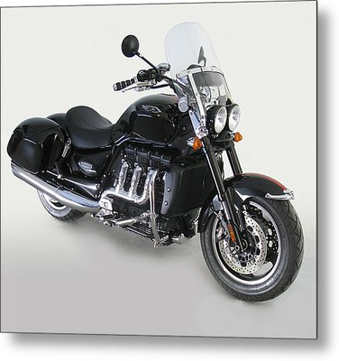 Metal Print featuring the photograph Triumph Rocket IIi by Richard Wiggins