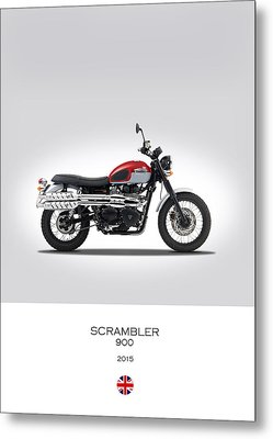 Triumph Scrambler 2015 Metal Print