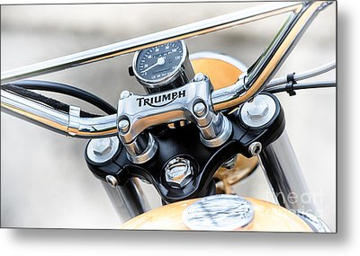 Triumph Scrambler Abstract Metal Print by Tim Gainey