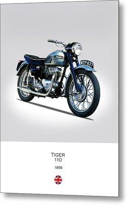 Triumph Tiger 110 1956 Metal Print