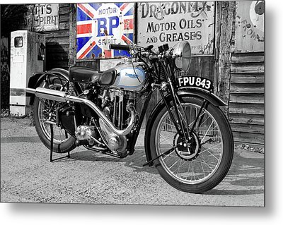 Triumph Tiger 80 Metal Print by Mark Rogan
