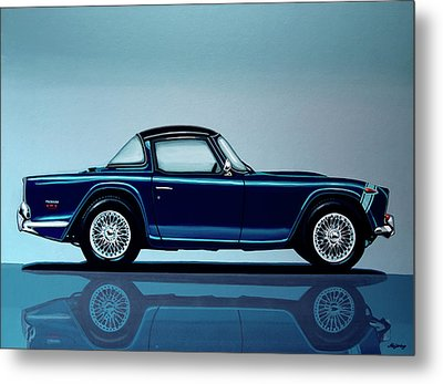 Triumph Tr5 1968 Painting Metal Print by Paul Meijering