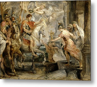 Triumphant Entry Of Constantine Into Rome Metal Print