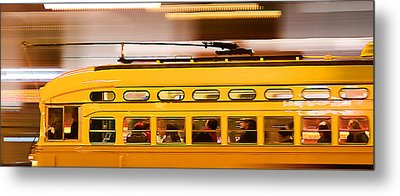 Metal Print featuring the photograph Trolley 1052 On The Move by Steve Siri