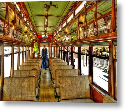 Metal Print featuring the photograph  Trolley by Raymond Earley