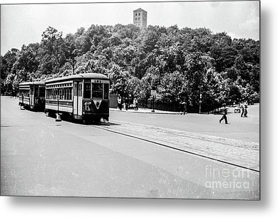 Metal Print featuring the photograph Trolley With Cloisters by Cole Thompson