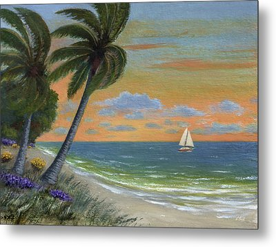 Metal Print featuring the painting Tropic Breeze by Gordon Beck