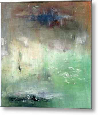 Metal Print featuring the painting Tropic Waters by Michal Mitak Mahgerefteh