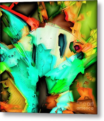 Metal Print featuring the photograph Tropical Angel Fish In Abstract 20170325v5 Square by Wingsdomain Art and Photography
