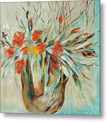 Metal Print featuring the painting Tropical Arrangement by Joanne Smoley