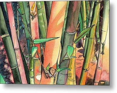 Tropical Bamboo Metal Print