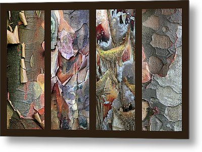 Tropical Bark Collage Metal Print by Jessica Jenney