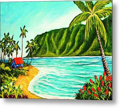 Tropical Beach #361 Metal Print by Donald k Hall