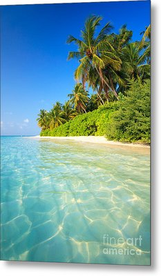 Tropical Beach - Maldives Metal Print by Matteo Colombo