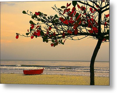 Metal Print featuring the photograph Tropical Beach Sunset by Kim Wilson