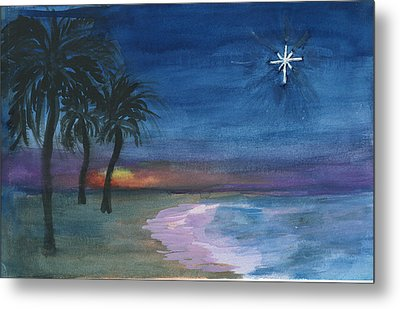 Metal Print featuring the painting Tropical Christmas by Donna Walsh
