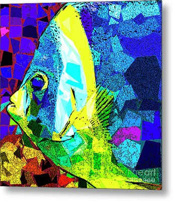 Metal Print featuring the photograph Tropical Fish In Abstract 20170325v3 Square by Wingsdomain Art and Photography