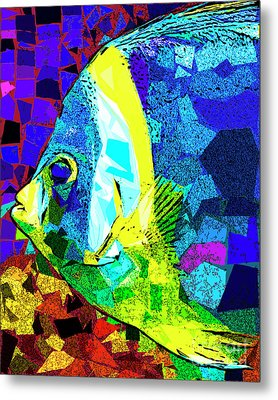 Metal Print featuring the photograph Tropical Fish In Abstract 20170325v3 by Wingsdomain Art and Photography