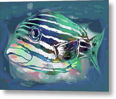 Tropical Fish - New Pop Art Poster Metal Print by Kim Wang