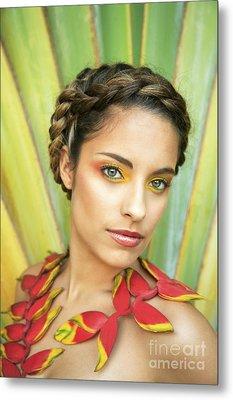 Tropical Floral Fashion Metal Print by Brandon Tabiolo - Printscapes