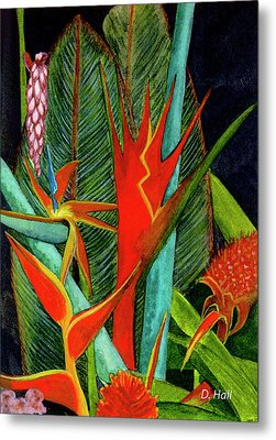 Tropical Flowers Assortment #60 Metal Print by Donald k Hall
