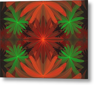 Tropical Flowers Metal Print by Sandy Keeton